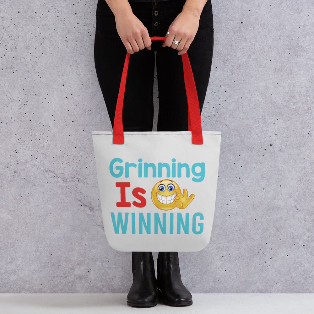 Grinning Is Winning - Tote bag