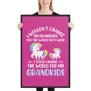 I Wouldn't Change - Framed poster