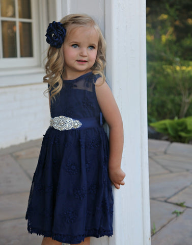 Lizzie Flower Girl Lace Dress