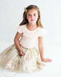 Gold Sequin Skirt