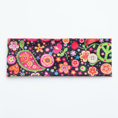 Mask Holder Headband PEACE Print 8