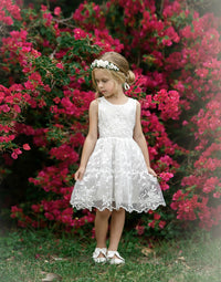 Piper Embroidered Organza White Dress