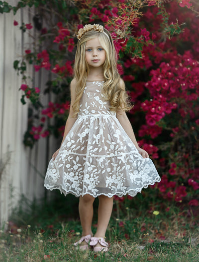 Piper Embroidered Organza Toffee Dress