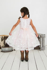 Piper Embroidered Organza Pink Dress