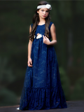 Martina Flower Girl Dress - Navy
