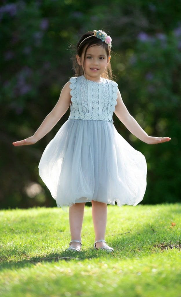 Analeah flower girl dress greyblue think pink bows analeah flower girl dress greyblue mightylinksfo