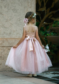 Everly Flower Girl Dress Blush Pink