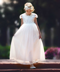 Gracie Flower Girl Communion Baptism Dress