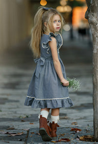 Adeline Apron Chambray Dress