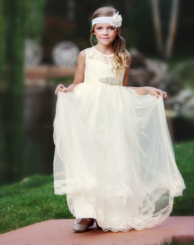 Alessandra Flower Girl Lace Dress