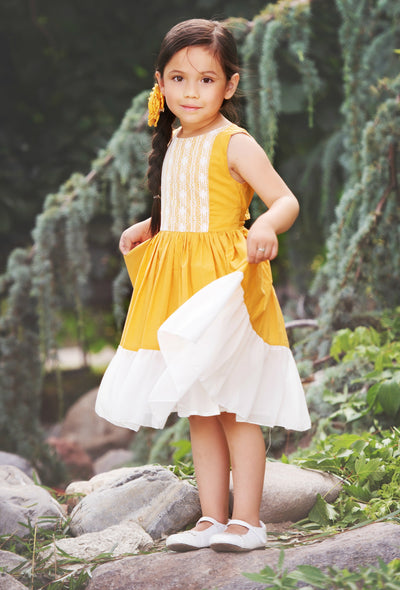 Leilani Dress -Mustard