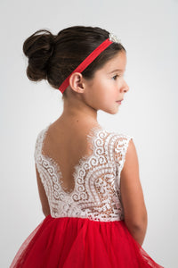 Claire Flower Girl Dress Red