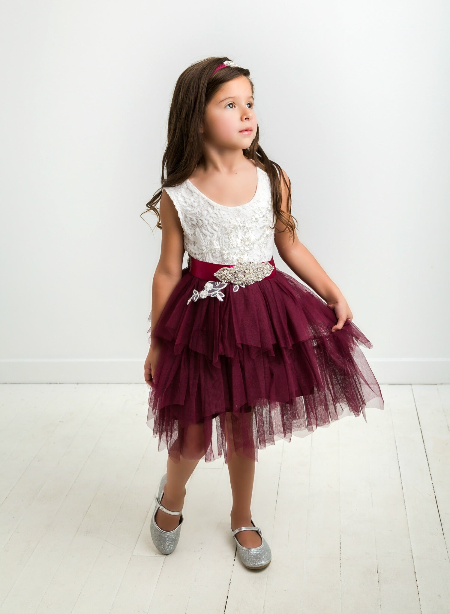 2bbbb6d85 Claire Flower Girl Dress Eggplant – Think Pink Bows