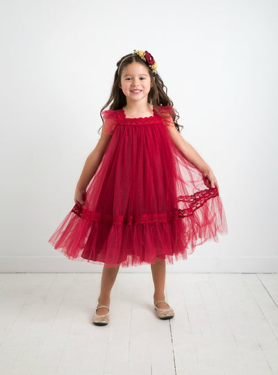 Kailani Dress -  Burgundy