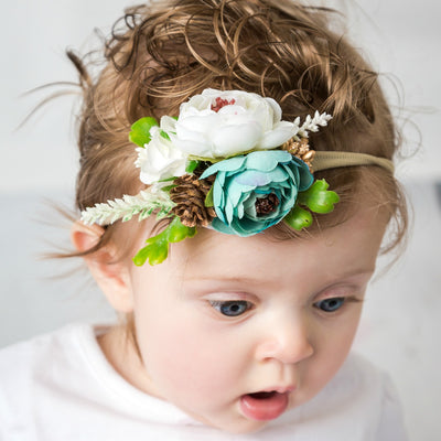 Style 50 Pocket Full of Posies Nylon Headband