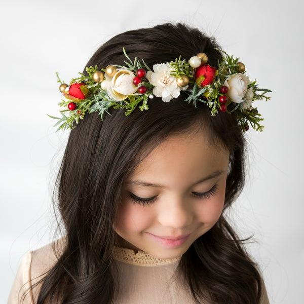 Angelina Flower Girl Crown