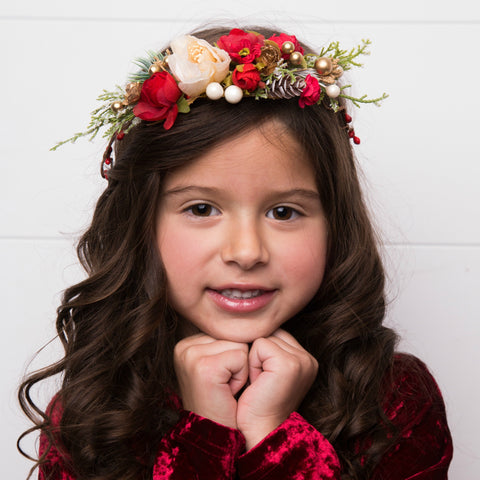 Natalie Flower Girl Crown