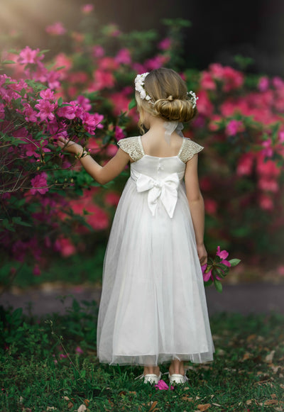 Georgia Belle Flower Girl Dress - Off White