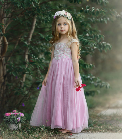 Georgia Belle Flower Girl Dress - Dusty Rose