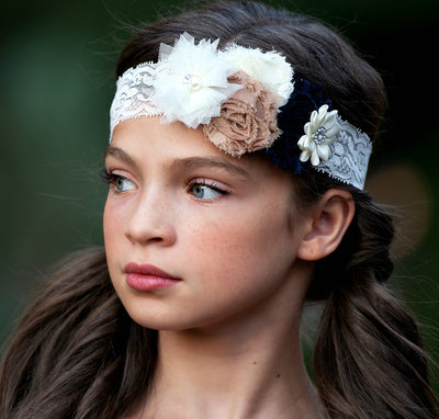 Valencia Couture Flower Lace Headband