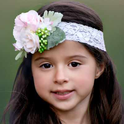 Azalea Couture Flower Lace Headband