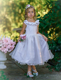 Fiona Oyster Flower Girl Dress