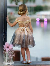 Amelie Champagne Flower Girl Dress