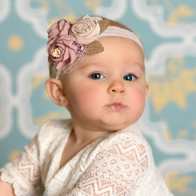 Ruth Couture Flower Lace Headband