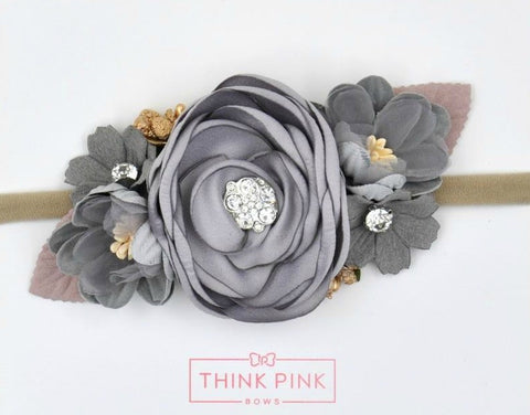 Style 8 Pocket Full of Posies Nylon Headband