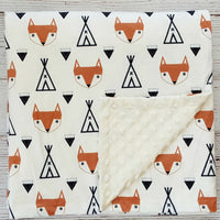 Indian Fox Soft Baby Blanket