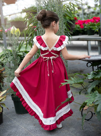 Matilda High Low  Dress  Raspberry