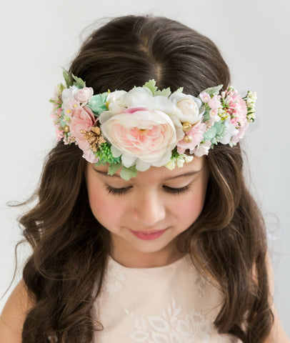 Athena Flower Girl Crown
