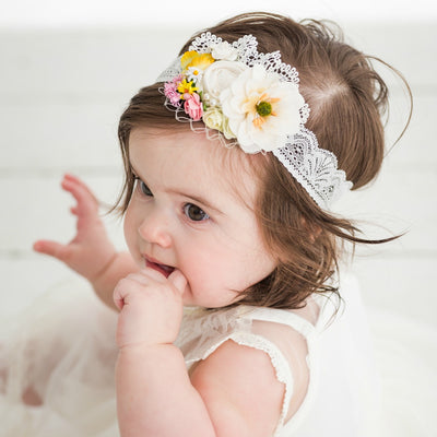 Florence Couture Flower Lace Headband