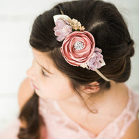 Style 19 Pocket Full of Posies Nylon Headband