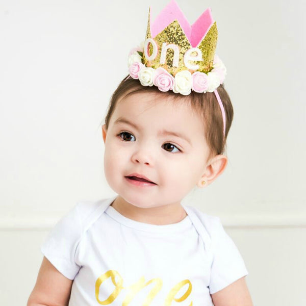 ONE Birthday Crown Headband