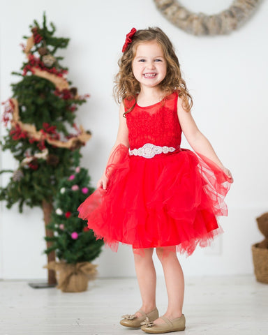 FairyTale  Flower Girl Dress - Red