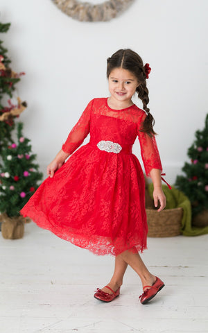 Versailles Flower Girl Dress Red