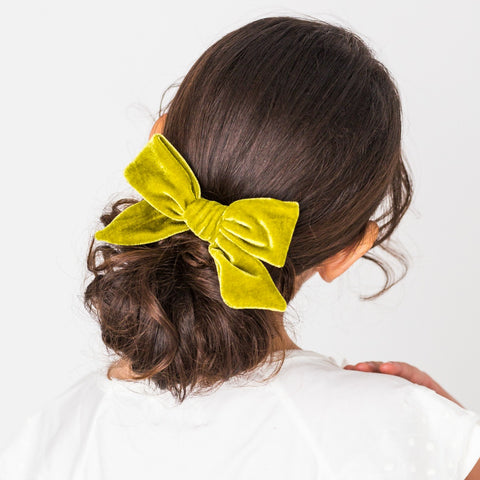 "Luxe Velvet 5"" Bow Clippie 23 Colors Available"