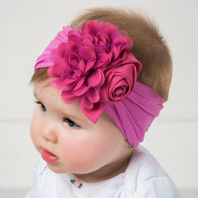 Couture Nylon Headwraps  BERRY 8