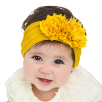 Duo Flower Nylon Headwrap 26 Colors