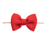 PUFF Bow Nylon Headband Red 3