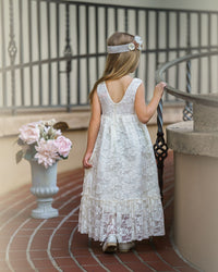 Martina Flower Girl Dress - Ivory