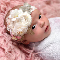 Ella Couture Flower Lace Headband