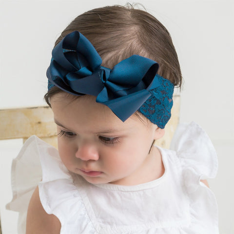 Lace Headwrap With Bow