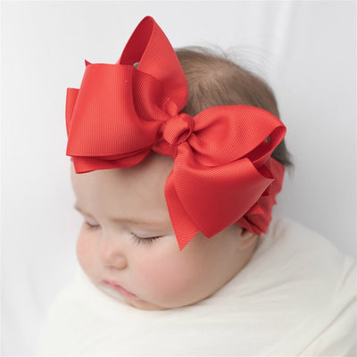 Layered Grosgrain BOW Nylon Headwraps  RED 24