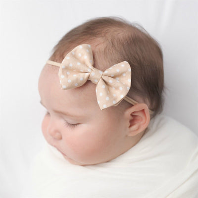 Jamie Bows Headband Natural