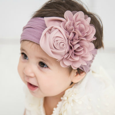 Couture Nylon Headwraps PURPLE GREY 7