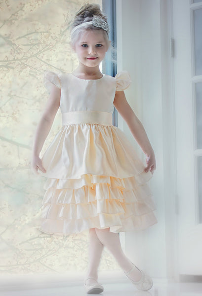 Sabrina Flower Girl Dress Ivory