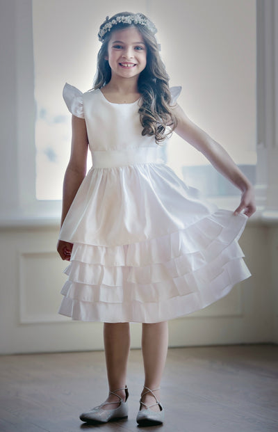 Sabrina Flower Girl Dress Off White