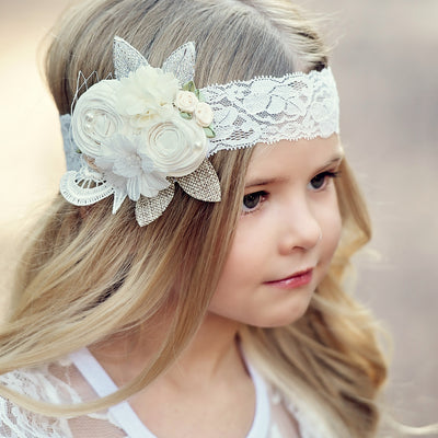 Avery Couture Flower Lace Headband